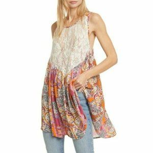 NWT Free People Count Me In Trapeze Floral Boho